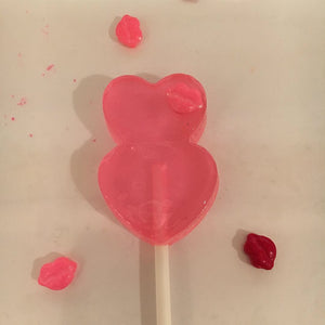 6 Double Heart Lollipops