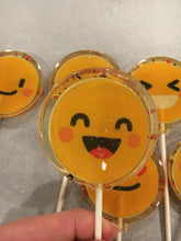 Load image into Gallery viewer, 6 Emoji Lollipops