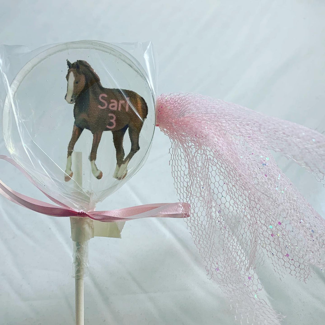 6 Horse Lollipops with a Fancy Tail