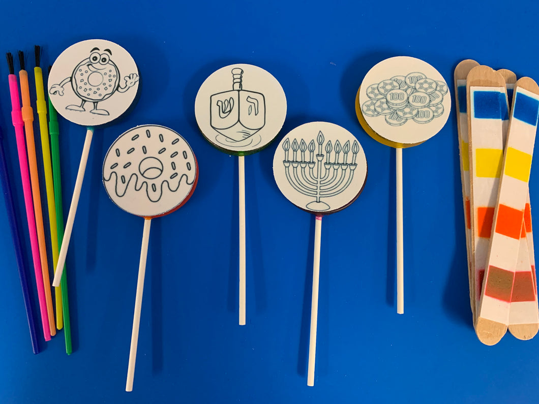 6 Paint Your Own Chanukah Lollipop Sets