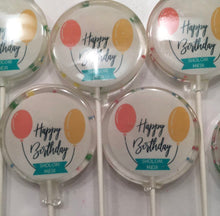 Load image into Gallery viewer, 6 Personalized Hard Candy Lollipops