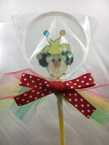 6 Hard Candy Jester Lollipops