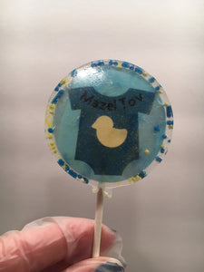 6 Baby Boy Personalized Lollipops Set 2