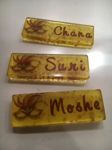 6 Edible Hard Candy Place Cards