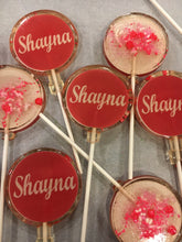 Load image into Gallery viewer, 6 Sweet 16 Personalized Lollipops