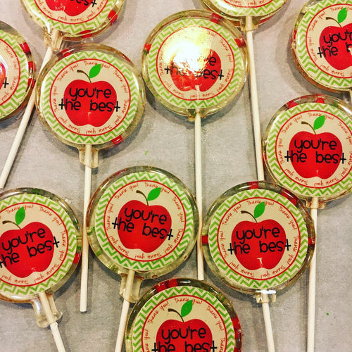 6 Teacher Appreciation Lollipops