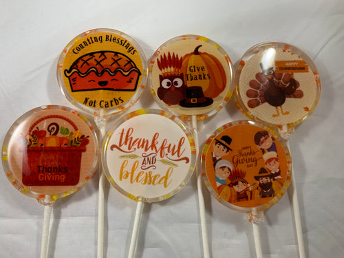 6 Thanksgiving Themed Lollipops