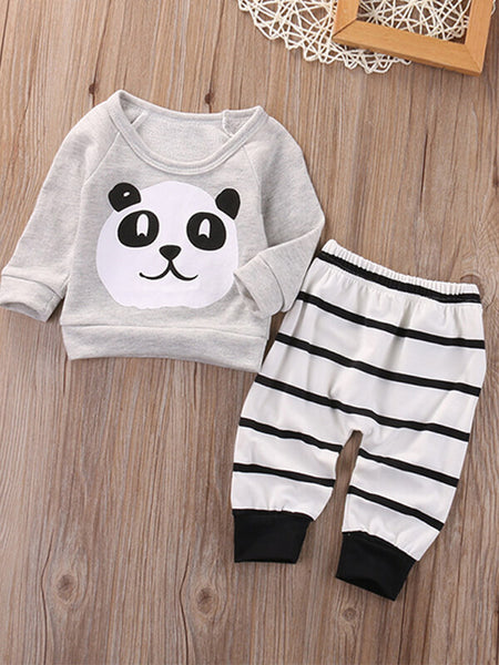 Panda Print Jumper & Trouser Set