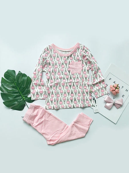 Cute Ice Cream Top & Leggings Set