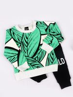 Statement Jumper with Leaf Print