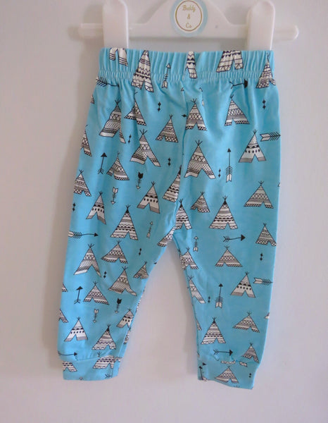 Cool Blue Teepee Leggings