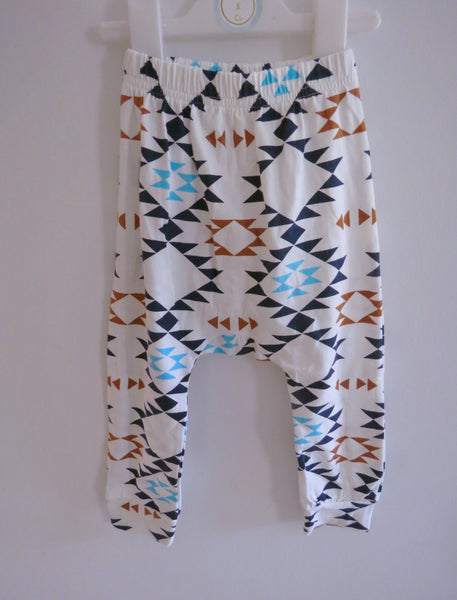 Aztec Diamond Harem Pants