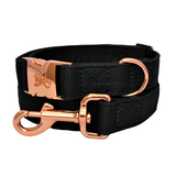 Black & Rose Gold Dog Collar - Luxe Collection
