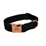 black designer dog collar