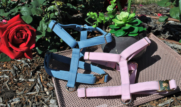 Pink Velvet Harness - BK Boutique Pets