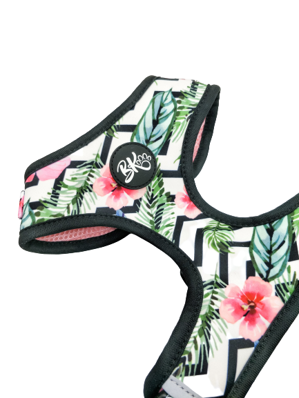 Adjustable dog harness - Tropical Print