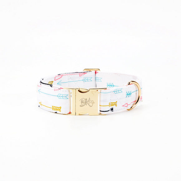 White Dog Collar - BK Boutique Pets
