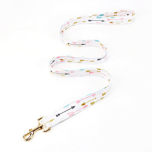 White patterned dog leash - BK Boutique Pets