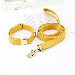 Mustard Dog Collar and Lead - BK Boutique Pets