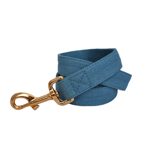 Blue Denim Dog Leash - BK Boutique Pets