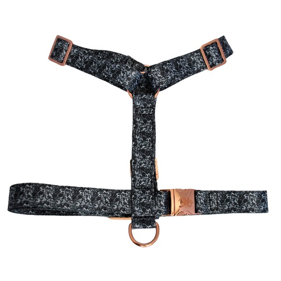 Lace print adjustable dog harness - strap style
