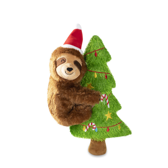 Merry Slothmas - Plush Squeaky Christmas Dog Toy