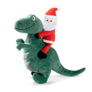 Santasaurus Rex - Plush Squeaky Christmas Dog Toy