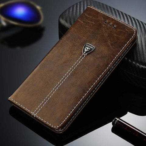 Luxury Flip Leather Phone Case For For iPhone X 7 8 - Gadget Canada