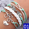 infinite double leather multilayer Charm  bracelet - Gadget Canada