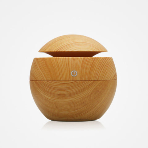 Mini Wooden Aromatherapy Humidifier  LED Touch Switch - Gadget Canada