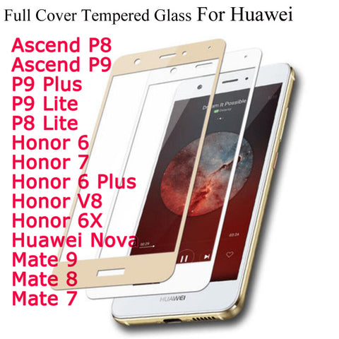 Full Cover Tempered Glass For Huawei - Gadget Canada