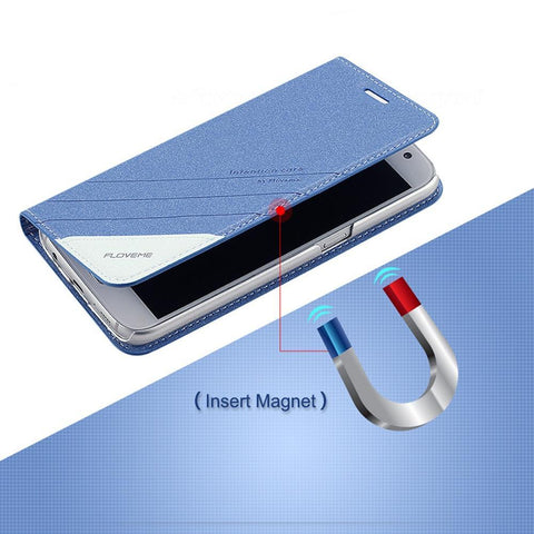Geometric Magnetic Flip Leather Phone Case - Gadget Canada