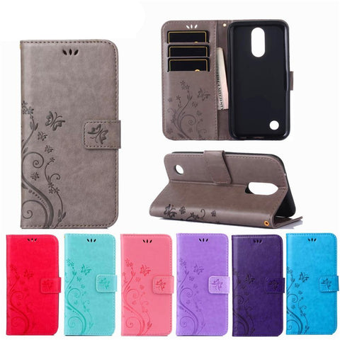Floral Pattern Magnetic Leather Wallet Phone Case - Gadget Canada
