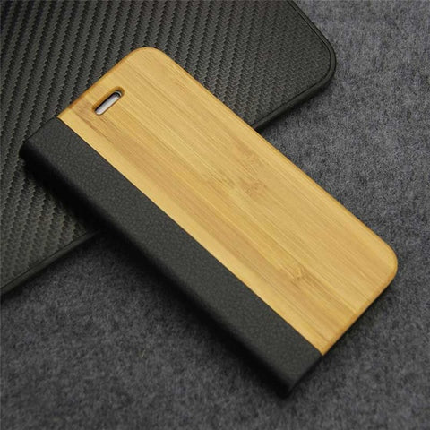 Nature Real Wood Phone Cover with Stand - Gadget Canada
