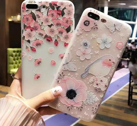 Relief Silicone Ultra Thin Phone Cases - Gadget Canada