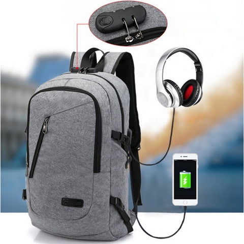 Anti Theft Business Laptop Backpack With USB Charging - Gadget Canada