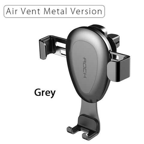 ROCK Updated Gravity Car Phone Holder For Air Vent Metal - Gadget Canada
