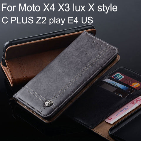 Luxury Leather Flip Cover with Stand Card Slot - Gadget Canada