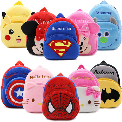 Cartoon Kids Plush Backpacks Mini schoolbag Hello Kitty - Gadget Canada