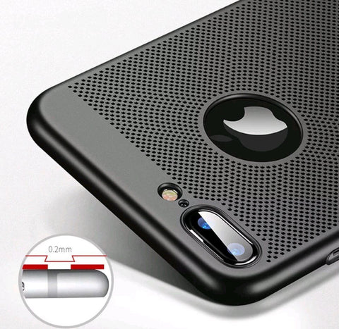 Mesh Shockproof Hard Back Case Cover For iPhone X / 7 / 8 Plus - Gadget Canada