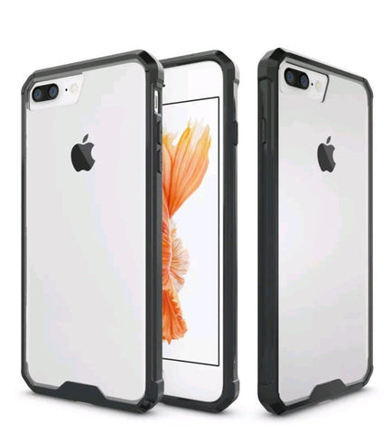 Slim Colored TPU Bumper Clear Hard Acrylic Cover - Gadget Canada
