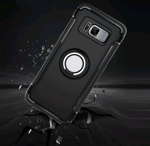 Ring Holder Premium Shockproof Armor Case For Galaxy S8 / S8 Plus - Gadget Canada