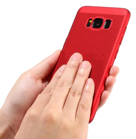 Luxury PC Mesh Hard Back Case Cover For Galaxy S8 & S8 Plus - Gadget Canada