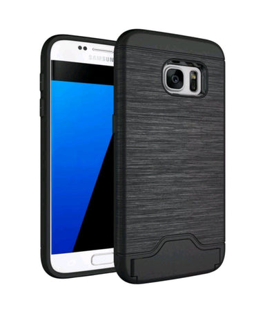 Hybrid Shockproof Card Slot & Credit Wallet Case - Gadget Canada