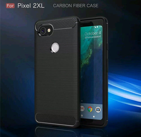 Shockproof Carbon Fiber Brush Armor Soft TPU Case - Gadget Canada