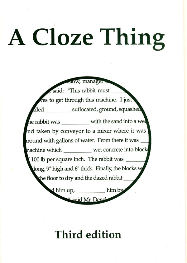 A Cloze Thing
