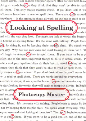 Looking at Spelling