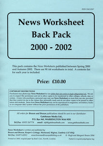 News Worksheet 2000-02 Back Pack