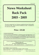 Load image into Gallery viewer, News Worksheet 2003-05 Back Pack