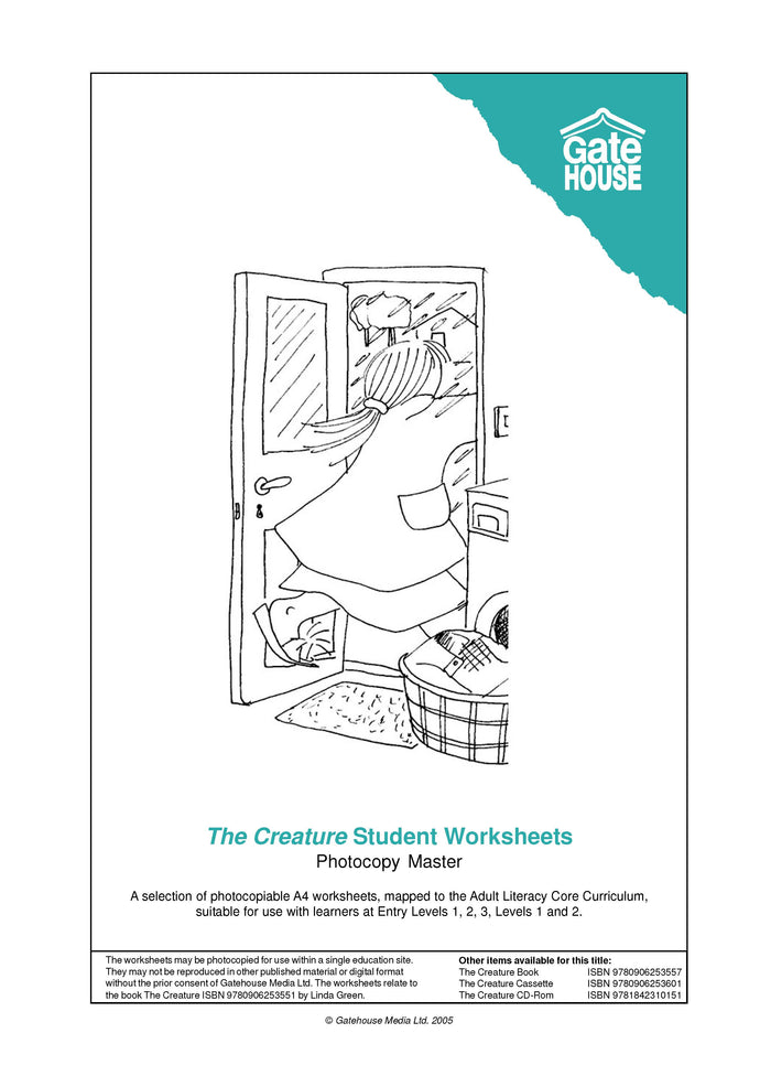 The Creature Student Worksheets (PDF)